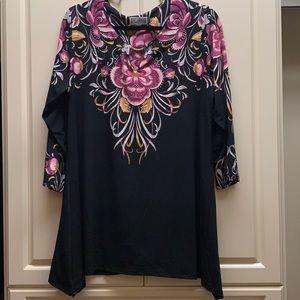 JM Collection Floral Tunic